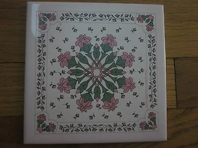 ELIZABETH ROOT -ELIZABETH'S FANCY 1990 trivet/ table top decor/ plate & cup rest
