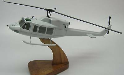 Huey UH-1N Iroquois Helicopter Wood Model Replica Small Free Shipping