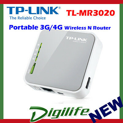 TP-LINK TL-MR3020 Portable 3G/4G Wireless N Router for USB 3G/4G Modem