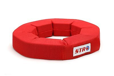 STR Neck Support Brace Collar RED SFI Approved LARGE,KART,RACE RALLY F2 SALOON