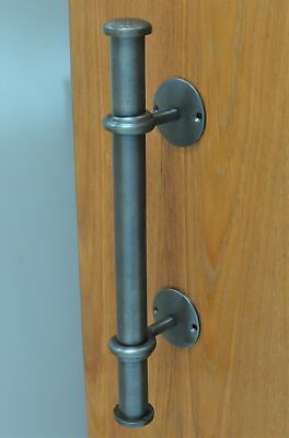 """HANDLE-WROUGHT """"ANTIQUE"""" SOLID BRASS PULL HANDLE-FRONT DOOR-heavy-NEW-entrance"""