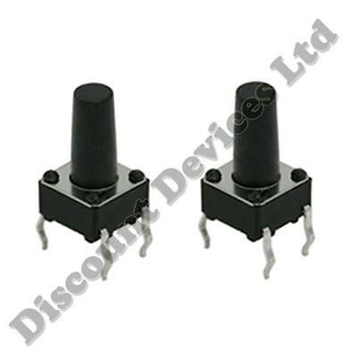 2x 6x6x8mm Momentary Tactile Mini/Micro/Small PCB Push Button Switch SPST