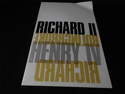 Royal Shakespeare Company Richard the Second Programme