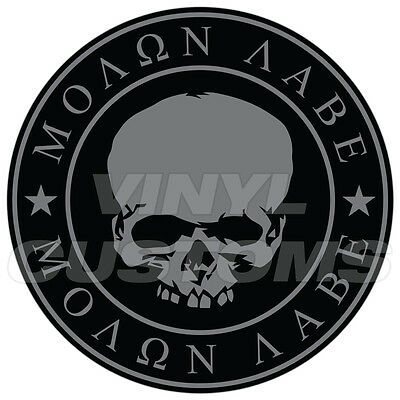 """3"""" Molon Labe Decal Sticker Dont Tread On Me Gadsden Flag Tactical Subdued Skull"""