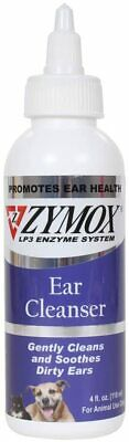 ZYMOX Ear Cleanser 4 fl. oz Dog Cat Clean Dirty Ears & Inhibits Bacterial Growth