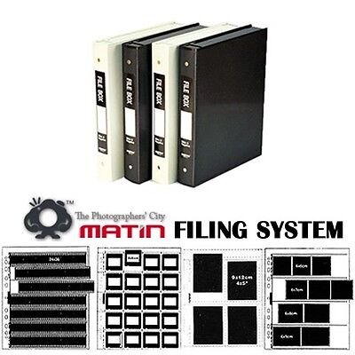 Matin NEGATIVE FILM/SLIDE MOUNTS CLEAR SHEETS Sleeves Archive Filing Accessories