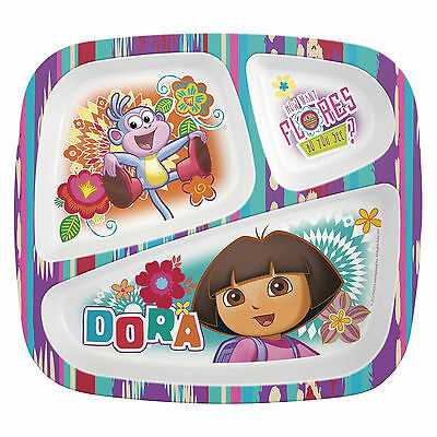 Dora the Explorer-3 section melamine ided plate  sc 1 st  PicClick & DORA THE Explorer-3 section melamine ided plate - $6.07 | PicClick