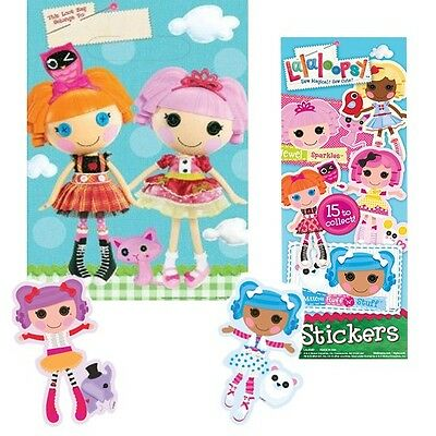 16 Lalaloopsy Treat Bags & 16 Favor Stickers - Goodie Bag Filler or Decorations
