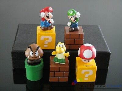 Cute Lot 5pcs Super Mario Bros Action Figures Cake decorating Free Shipping US