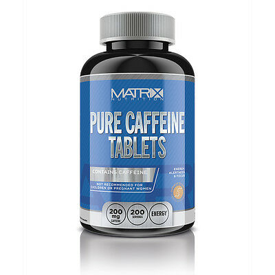 Energy Pre Workout Caffeine Tablets - Energy Boosting - Fat Burner - X200 Matrix