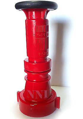 "2-1/2"" Nst Fire Hose Combination Fog Nozzle, 150Gpm, Red Polycarbonate"