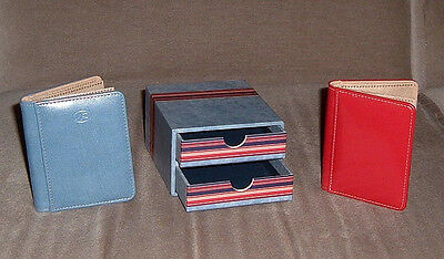 CREATIVE MEMORIES SET OF TWO 2x3 INCH MINI PICFOLIO ALBUMS IN BOX WITH DRAWERS
