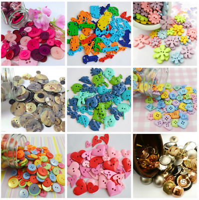 Buttons by Weight 75g/50g, Flowers, Hearts, Nautical, Emojis, Trucks, Shapes etc