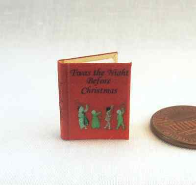 TWAS THE NIGHT BEFORE CHRISTMAS Miniature Book Dollhouse 1:12 Scale Santa