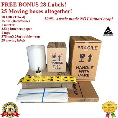 25xMOVING BOXES & PACKING MATERIALS CARDBOARD REMOVALIST PACKAGe!