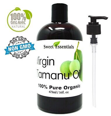 100% Pure Certified Organic Unrefined Tamanu Oil - 16oz - Imported From Tahiti