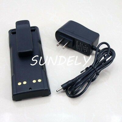 5500mAh LI-ION NTN7144 BATTERY + CHARGER for MOTOROLA HT1000 MT2000 MTS2000