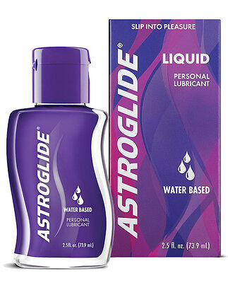 Astroglide Long Lasting Non Sticky Personal Water Based Lubricant Lube 2.5 oz