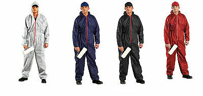 Disposable Coveralls Overalls  White,Blue Boilersuit Hood Painters Suit New