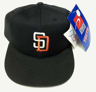 933807a7dc8 NWT MLB San Diego Padres Sports Specialties Youth Vintage Navy Snapback Cap  Hat