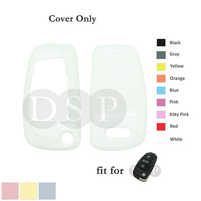 PVC Paint Color Shell Cover Holder fit for AUDI Flip Remote Key Case Fob WT