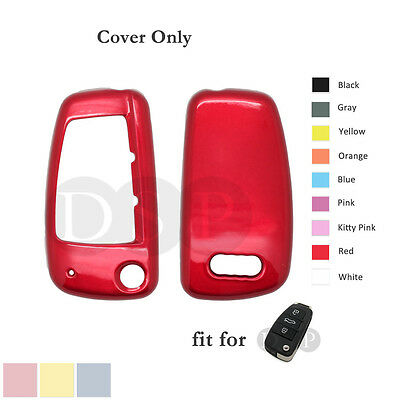 Paint Metallic Color Shell Cover Holder fit for AUDI Flip Remote Key Case Fob RD