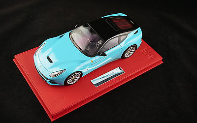 1/18 BBR FERRARI F12 BERLINETTA BABY BLUE RED DELUXE LEATHER LIMITED 20 PIECE MR