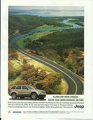 """2004 PRINT AD NEW JEEP GRAND CHEROKEE """"THE OFF-ROAD LEGEND CONTINUES.."""""""