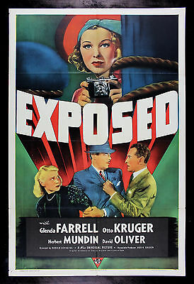 EXPOSED * CineMasterpieces MOVIE POSTER WOMAN PHOTOGRAPHER PHOTOGRAPHY 1938
