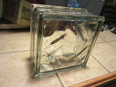 Vintage Beveled Textured Clear Glass/blocks/bricks/bath/divider Windows