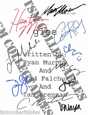 GLEE autographed script Cory MONTEITH Heather MORRIS signed auto'd