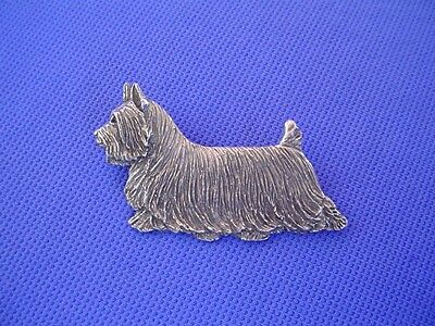 Silky Terrier Trotting pin #49B Pewter Dog Jewelry by Cindy A. Conter