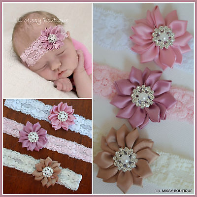 Baby Headbands Headband Flower Girl Newborn Toddler Hair Band Christening Lace