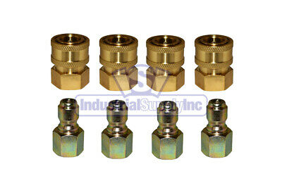 "4-pk 3/8"" FPT Pressure Washer Coupler Disconnects"