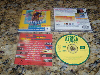 Africa Trail African Program Windows Computer (PC) Game (Mint)