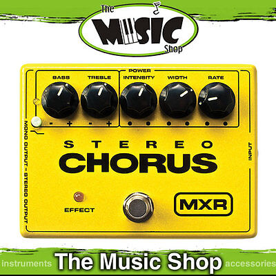 New MXR M134 Stereo Chorus Effects Pedal with EQ