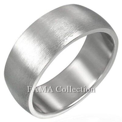 FAMA Stainless Steel Double Black Carbon Fiber Inlay Wide Band Ring Select Size