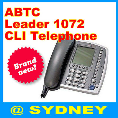 NEW ABTC Leader 1072 CLI Business Phone PABX Code Large LCD Speaker Telephone