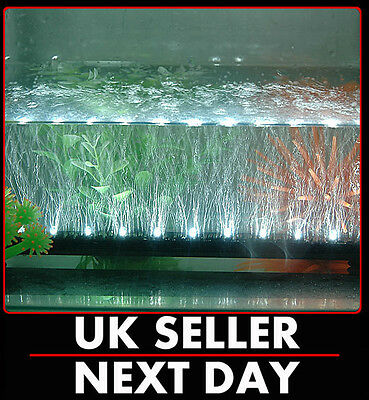White Led Airstone Bubble Aquarium Light Fisk Tank Multi Underwater Superbright