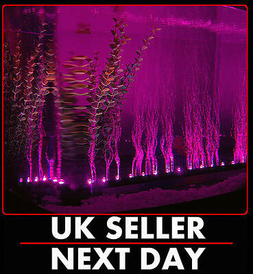 Purple Led Airstone Bubble Aquarium Light Fisk Tank Multi Underwater Superbright