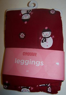 NWT GYMBOREE ALPINE SWEETIE RED SNOWMAN LEGGINGS 2T / 2 years  Free US Shipping