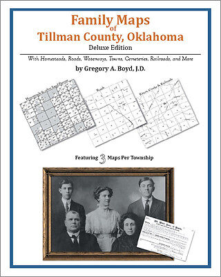 Family Maps Tillman County, Oklahoma Genealogy OK Plat