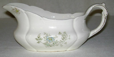 Antique ca.1905 Knowles Taylor & Knowles Porcelain Gravy Boat Flower Sprays