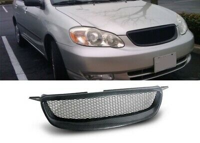 03 04 Toyota Corolla Ce Le S Carbon Look Hood Front Grill Grille