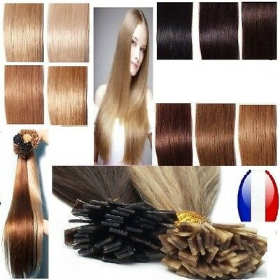 50 100 150 Extensions Cheveux Pose A Chaud 100% Naturels Remy 60Cm 1G Ss 48H