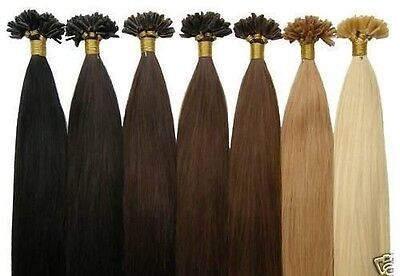 750, 100 EXTENSIONS POSE A CHAUD CHEVEUX 100% NATURELS REMY HAIR 49 CM 0.5g 1 g