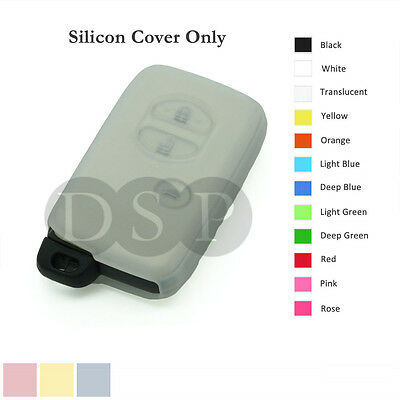 Silicone Cover Holder fit for TOYOTA Smart Remote Key Case Fob Entry 3 B 12C TR