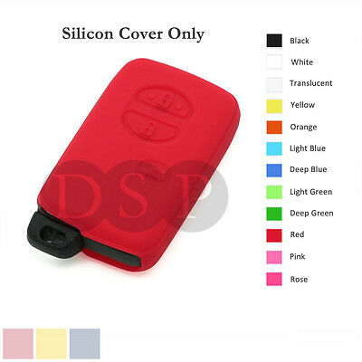 Silicone Cover Holder fit for TOYOTA Smart Remote Key Case Fob Entry 3 B 12C RD