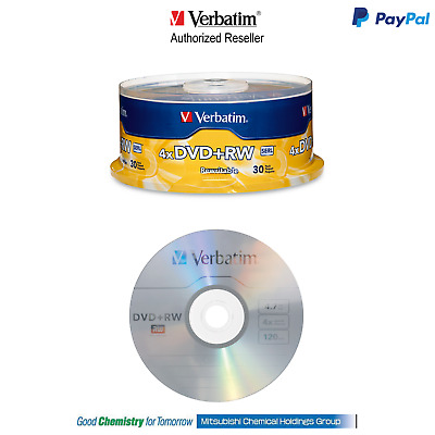 Verbatim Rewritable Blank DVD+RW 30 Disc Pack Spindle Pn: 94834