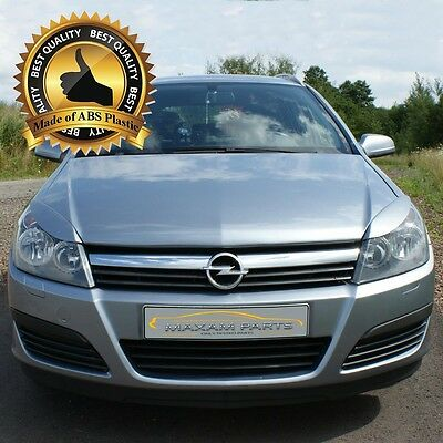 -= Vauxhall / Opel Astra H  Headlight brows lids eyebrows eyelids = ABS = NEW =-